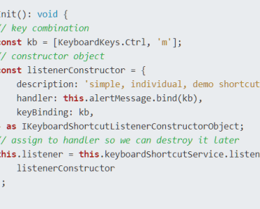 Create Custom Keyboard Shortcuts On Angular App