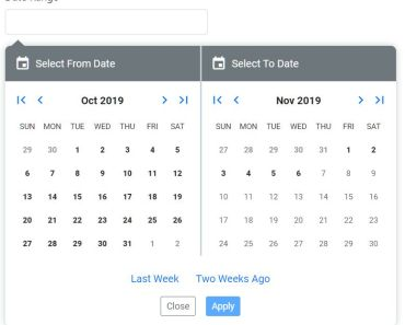 Custom Date Range Picker For Angular 8+ - ngx-daterange