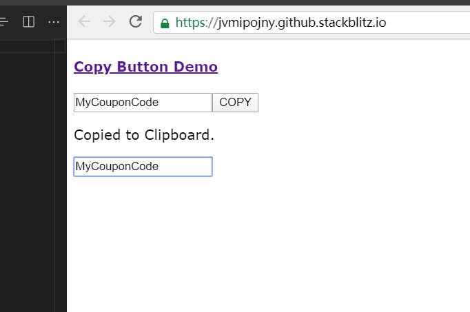 Copy Text From Input - angular-clipboard