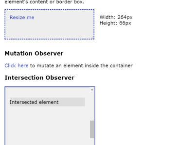 Angular Directives For Native Observers API