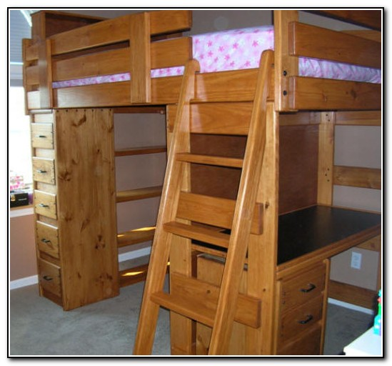 Bunk Bed With Desk And Dresser