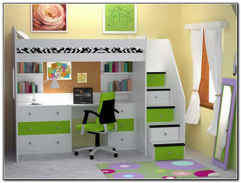 Bunk Beds For Kids With Desks Underneath