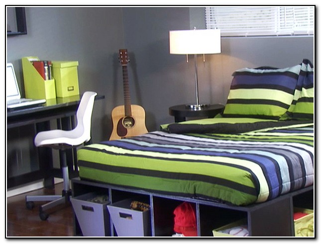 Diy Queen Platform Bed With Storage