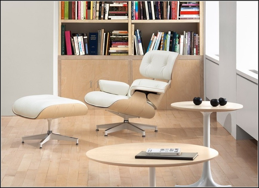Eames Lounge Chair White Ash