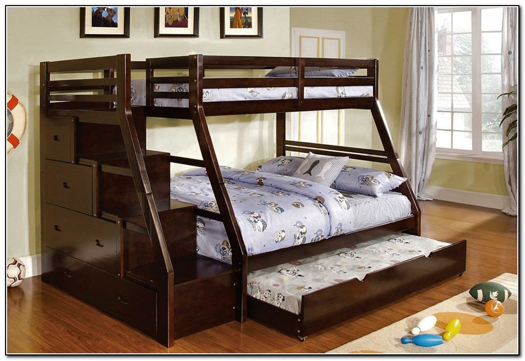 Full Over Full Bunk Beds With Stairs