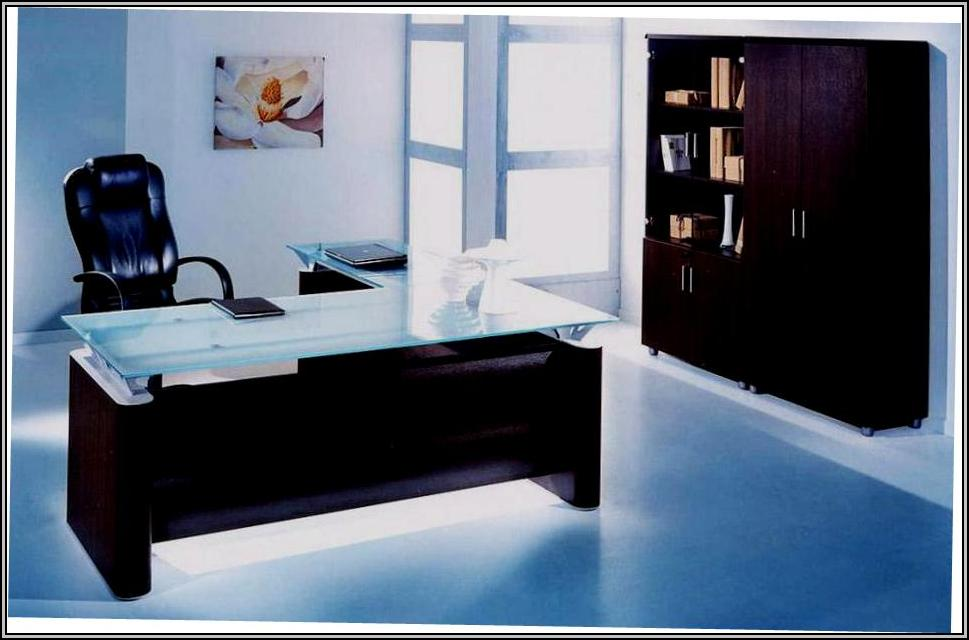 Glass Office Desk Furniture