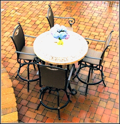 High Patio Table And Chairs