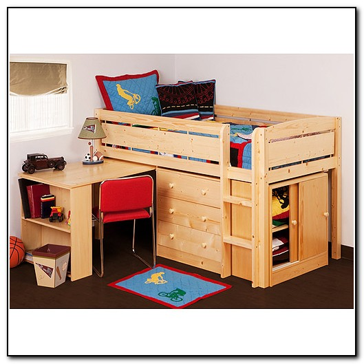Kids Loft Beds With Desk And Storage