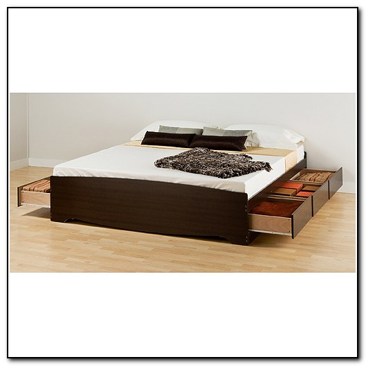 King Platform Bed Storage