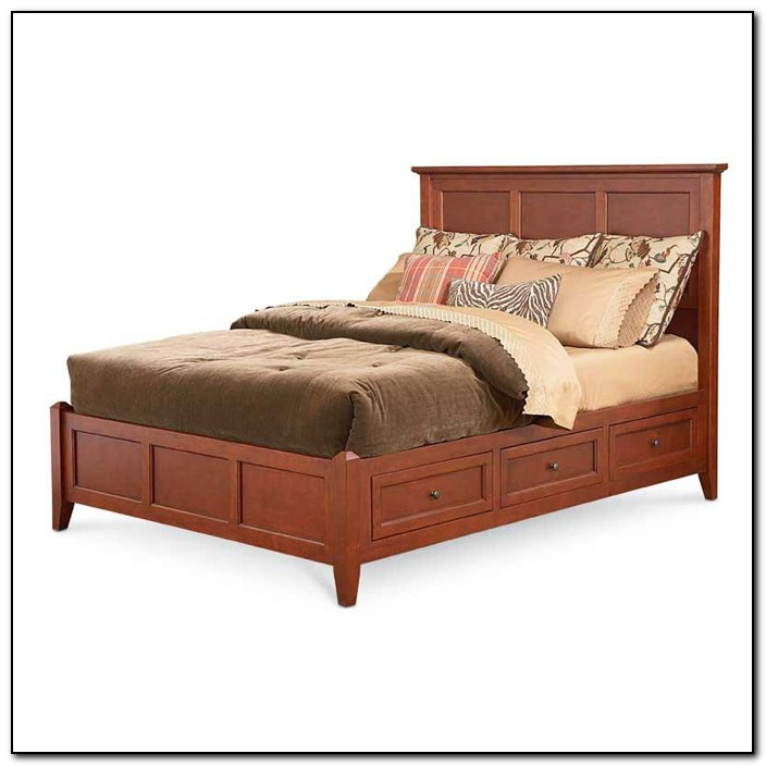 King Platform Bed With Drawers