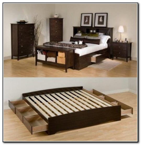 King Size Bed Frame With Storage