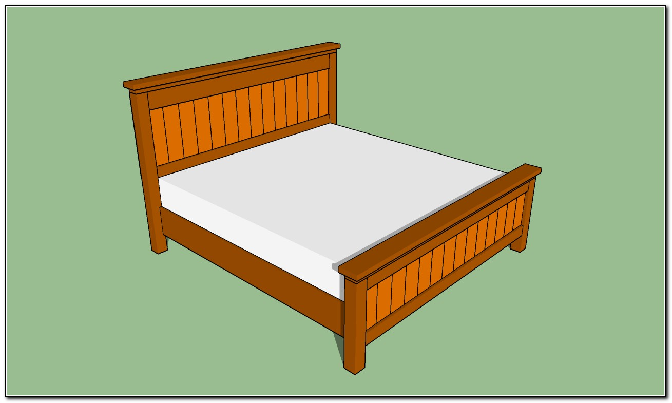 King Size Bed Plans