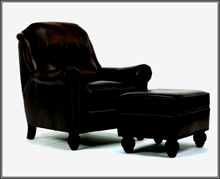 Leather Club Chair And Ottoman