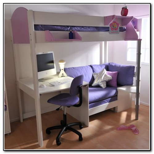Loft Bed With Desk And Couch