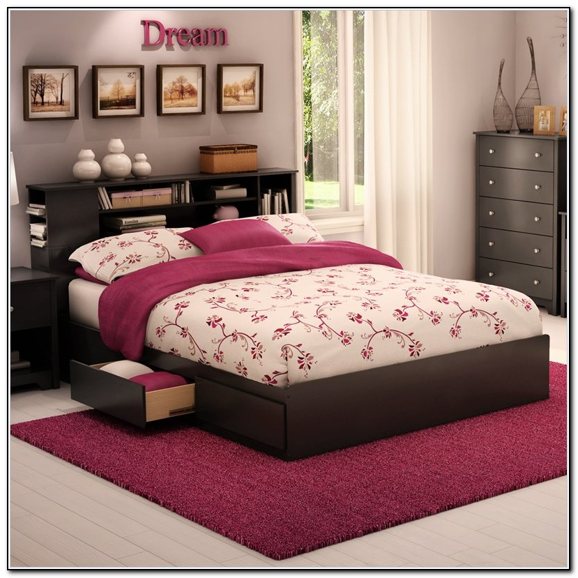 Queen Size Bed Frame With Storage