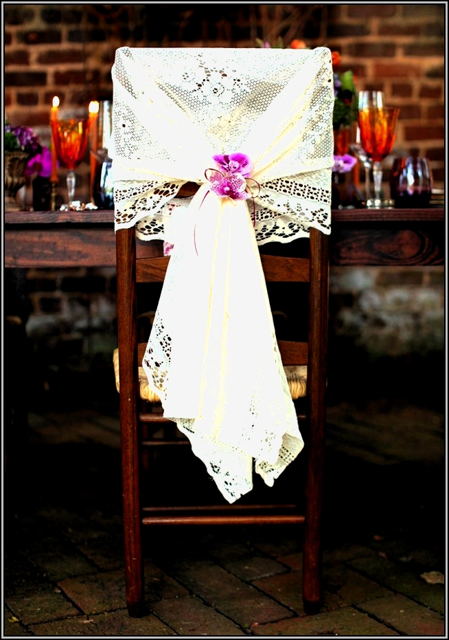 Wedding Chair Covers With Flowers