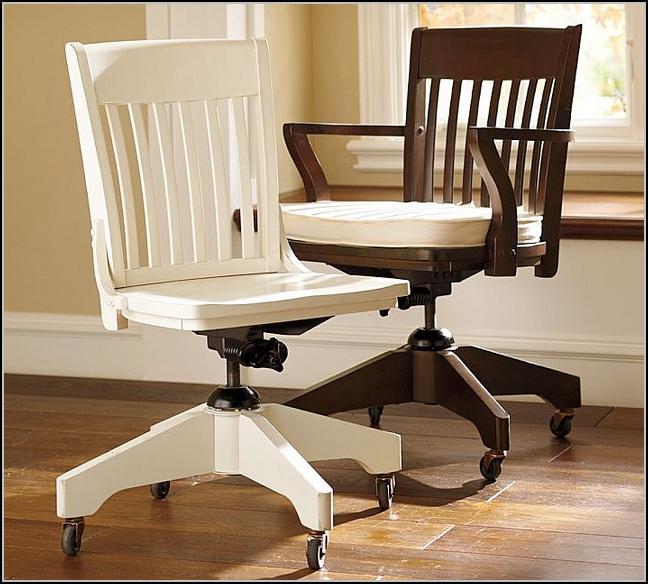 White Desk Chair Wood