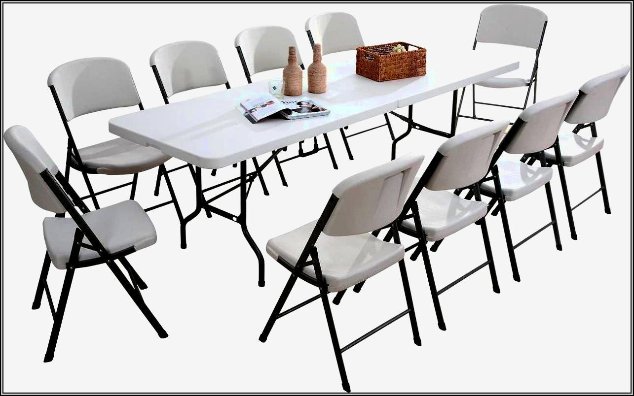 White Folding Table And Chairs