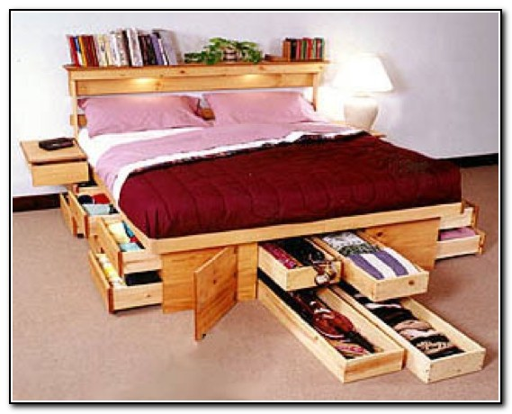 Bed Frames With Storage Underneath