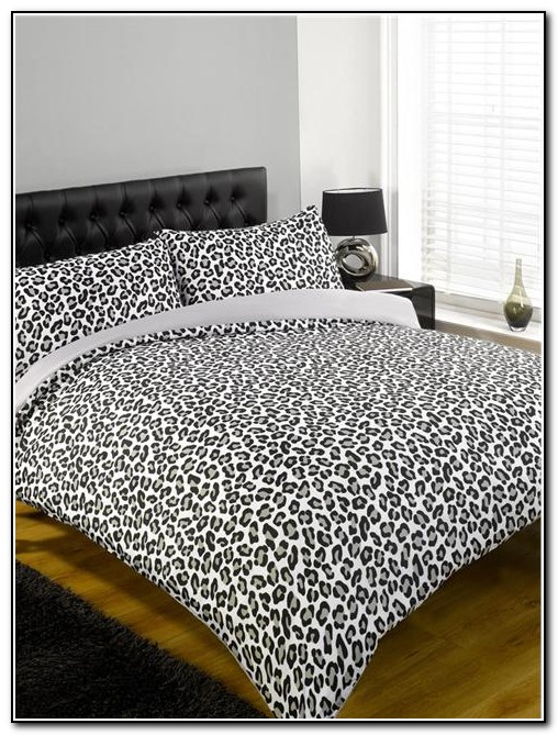 Black Leopard Print Bedding