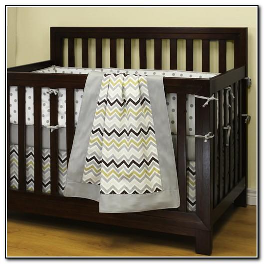 Boy Crib Bedding Chevron