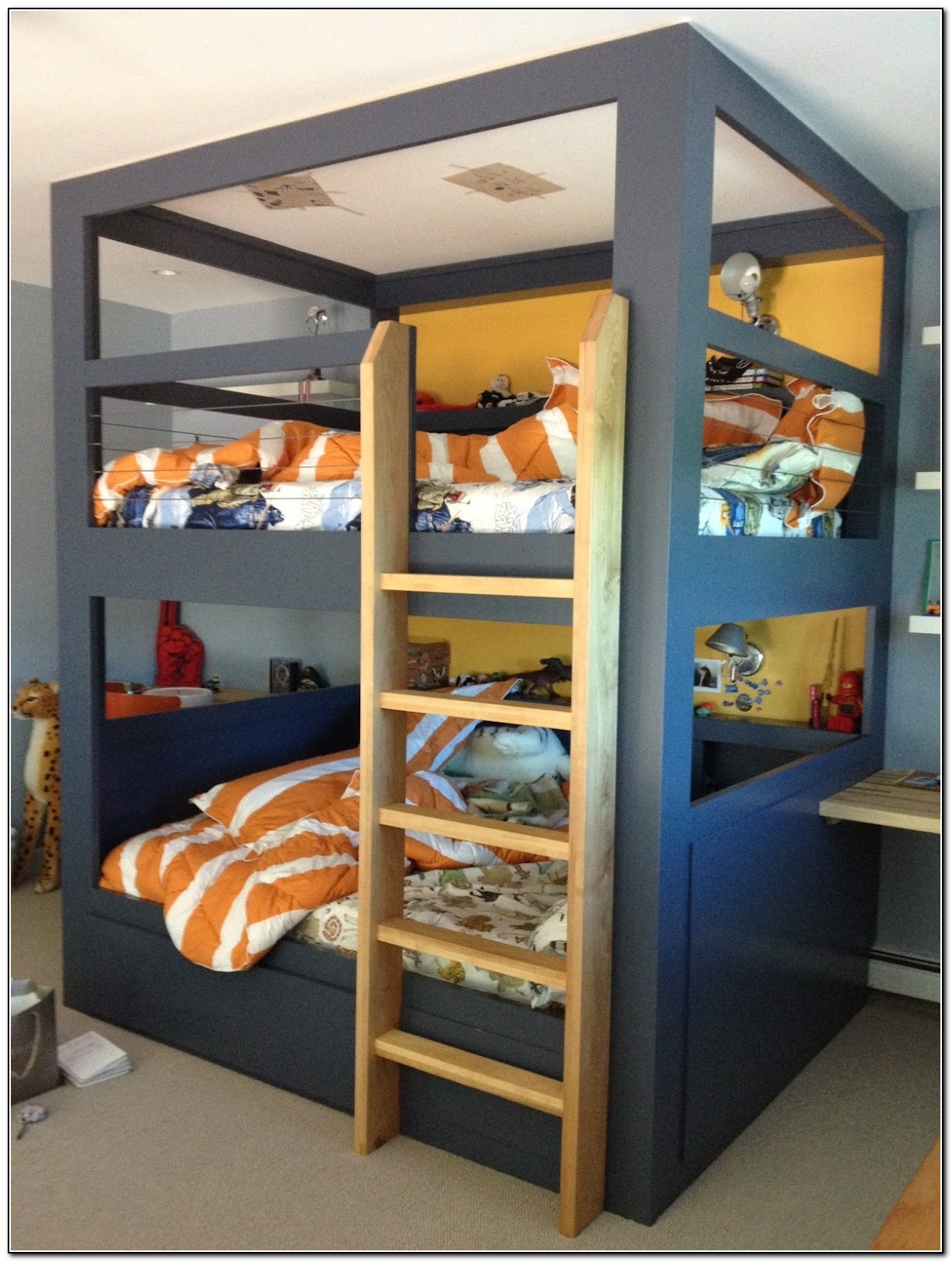 Built In Full Size Bunk Beds