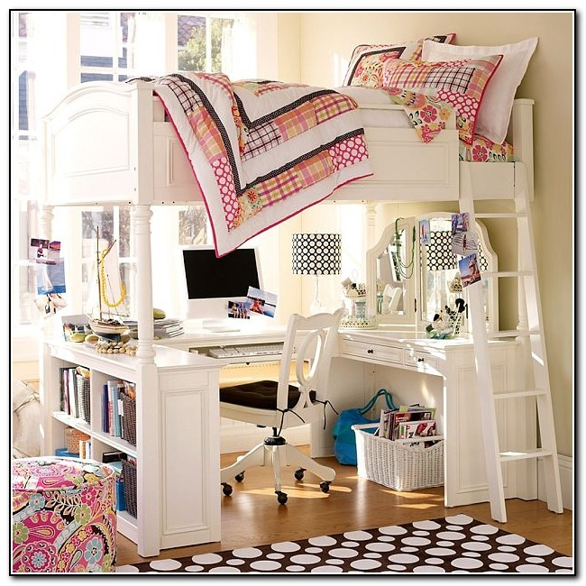 Bunk Beds For Girls With Desk And Stairs