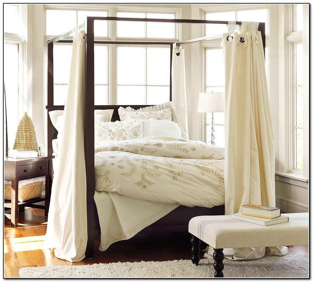 Canopy Bed Frame With Curtains