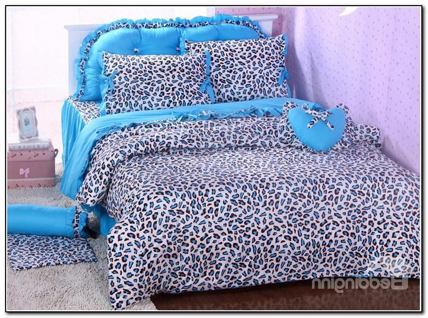 Cheetah Print Bedding Blue