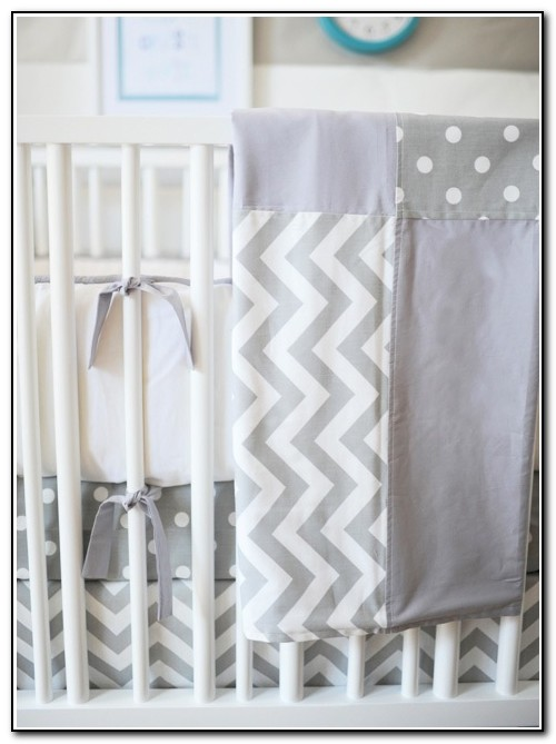 Chevron Baby Bedding Grey