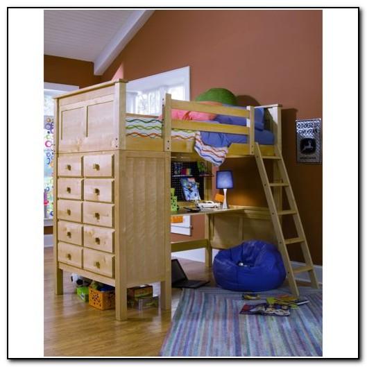 Full Loft Bed With Desk Costco