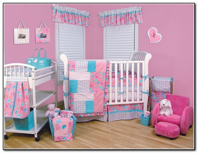 Girl Crib Bedding Turquoise