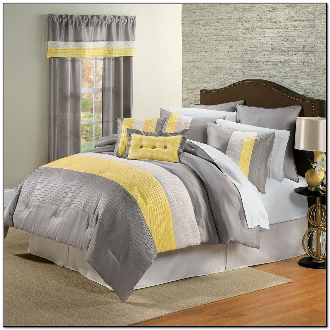 Grey And Yellow Bedding Ideas