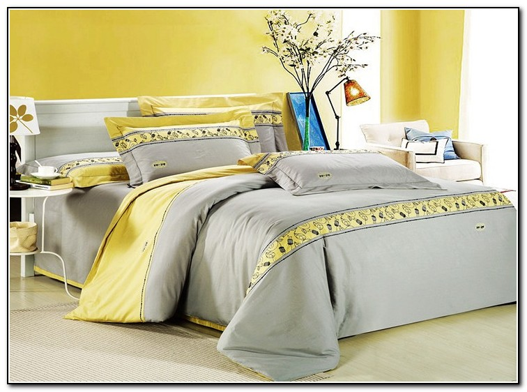 Grey And Yellow Bedding King Size