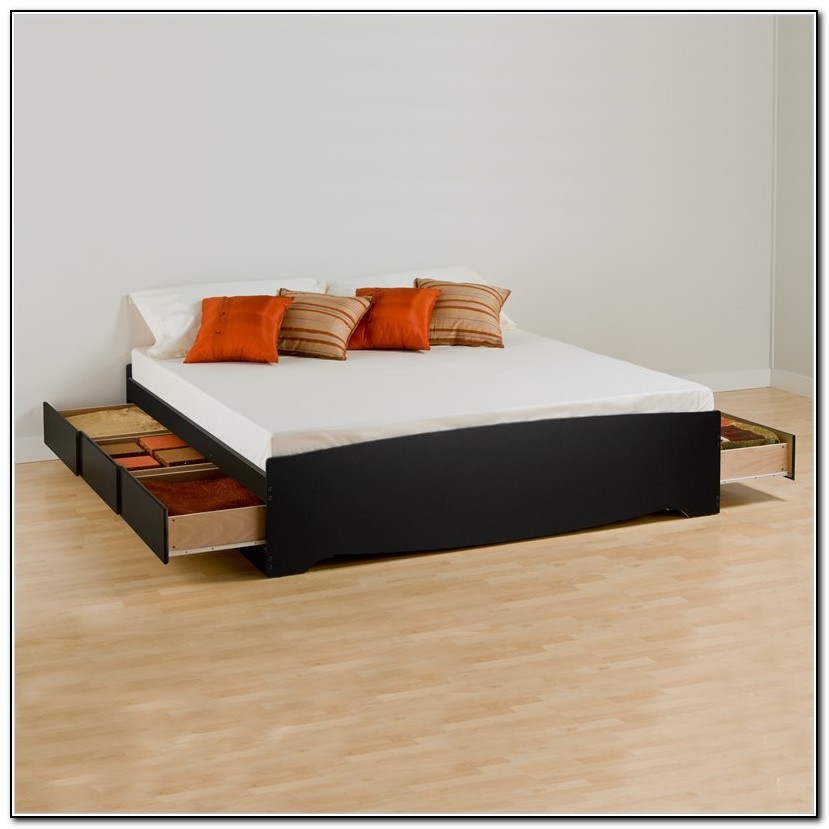 King Bed Frame With Drawers Underneath