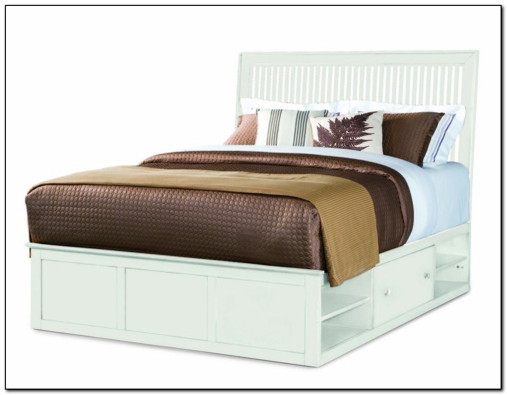 King Size Platform Bed With Storage