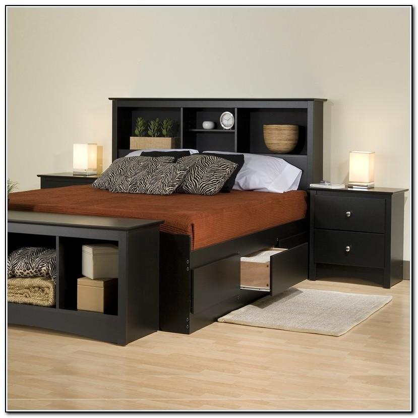 King Storage Bed Set