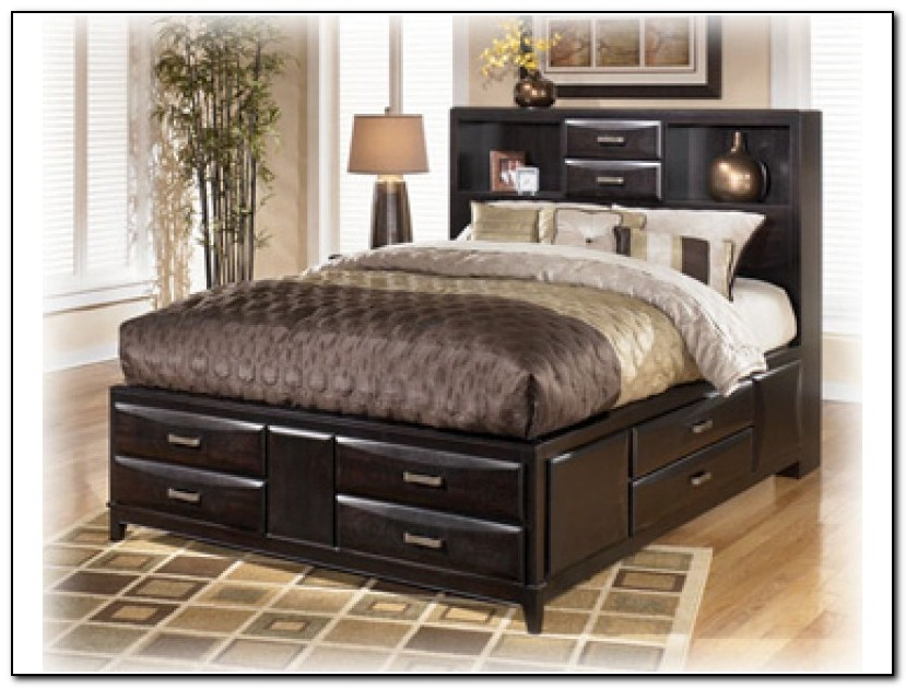 King Storage Bed With Drawers