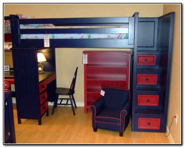 Loft Bunk Beds With Desk And Stairs