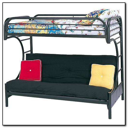 Metal Bunk Beds Twin Over Futon