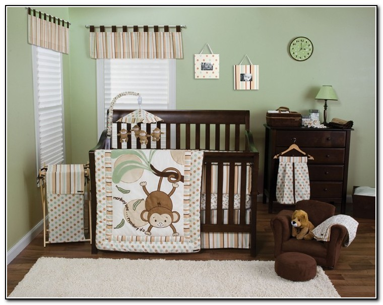 Monkey Crib Bedding For Boys