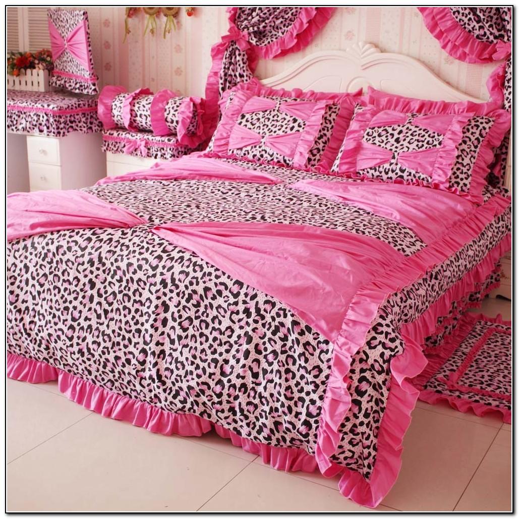 Pink Cheetah Print Bedding