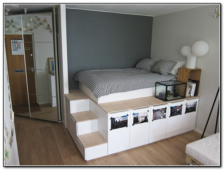 Platform Bed With Storage Plans Free