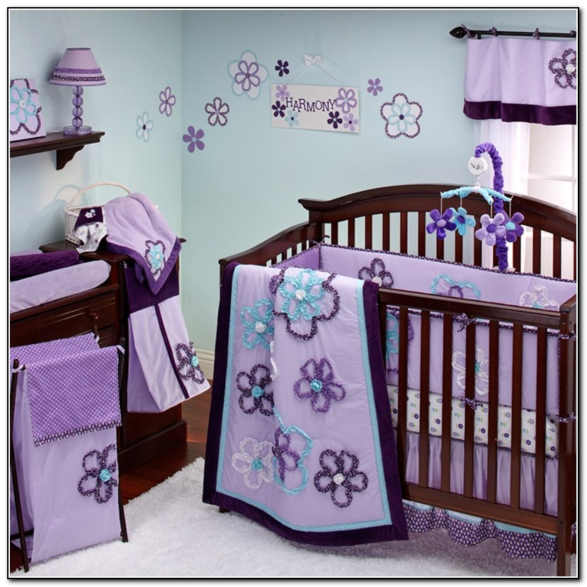 Purple Girl Crib Bedding Sets