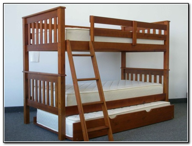 Queen Over Twin Trundle Bed