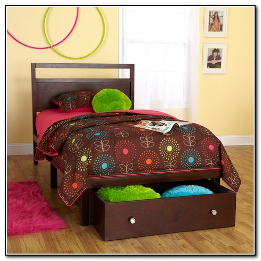 Twin Bed With Storage Underneath