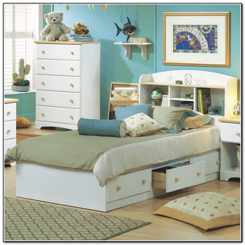 White Bed Frames With Storage