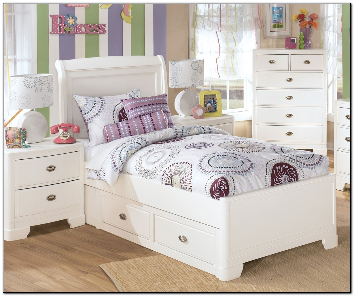 White Twin Bed For Girl