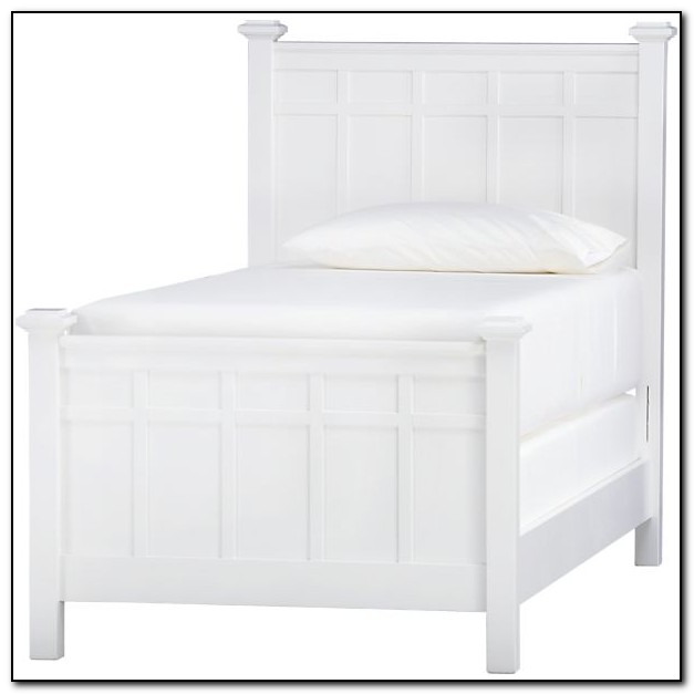 White Twin Bed Headboard