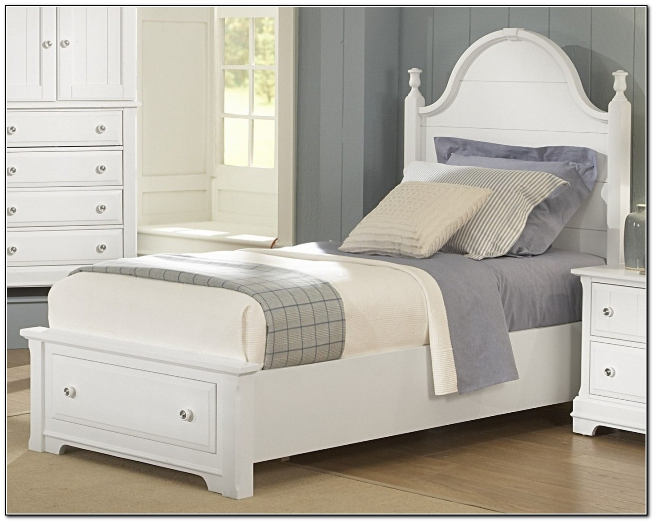 White Twin Bed With Storage
